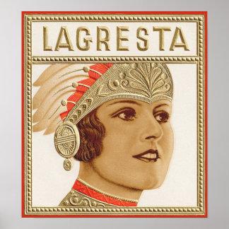Lagresta Cigar Label Print