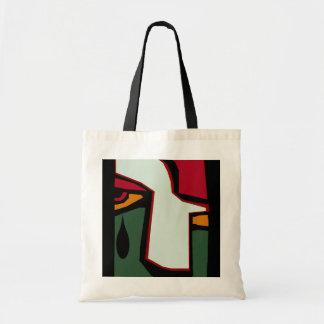 Lágrima del cubismo cubista de los regalos de la bolsa tela barata