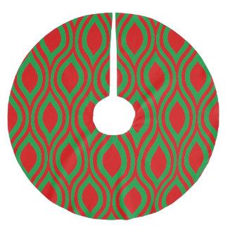 Lágrima geométrica por Cheryl Daniels Falda Para Arbol De Navidad De Poliéster