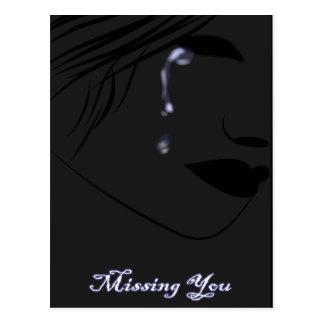 lágrimas azules tarjeta postal