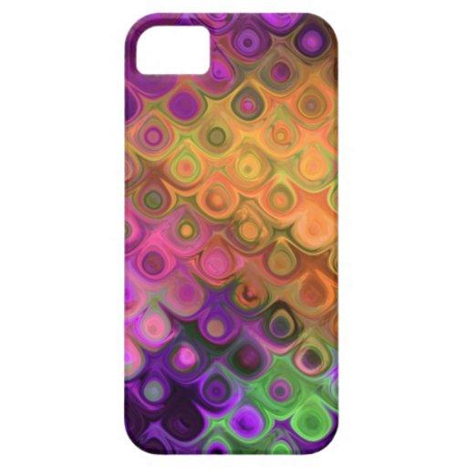 Lágrimas diagonales vibrantes en púrpura y los funda para iPhone 5 barely there