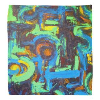 Laguna azul - arte abstracto pintado a mano bandanas
