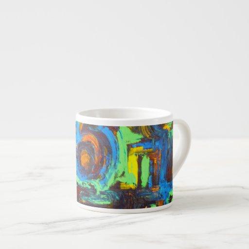 Laguna azul - arte abstracto tazita espresso