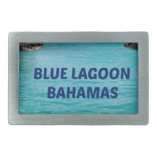 Laguna azul Bahamas Hebillas Cinturon Rectangulares