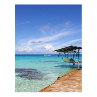 Laguna azul en el Tuamotus, Polinesia francesa Postal