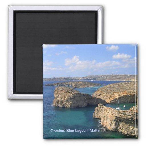 Laguna azul en Malta Imanes