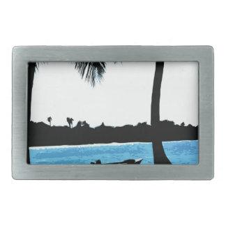 Laguna azul hebilla cinturon rectangular