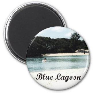 Laguna azul imán redondo 5 cm