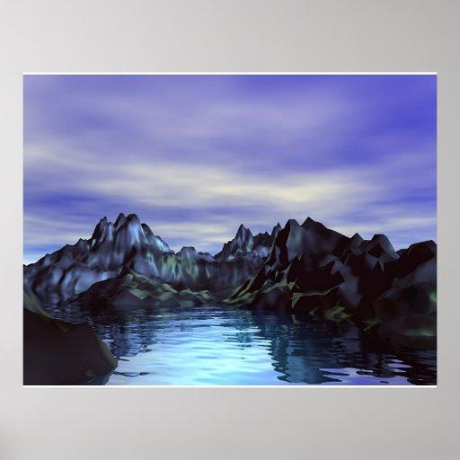 Laguna azul impresiones