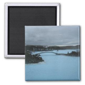 Laguna azul Islandia Imán Cuadrado