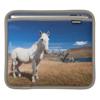 Laguna Azul, landscape with horses Sleeve For iPads