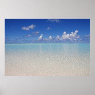 Laguna azul póster