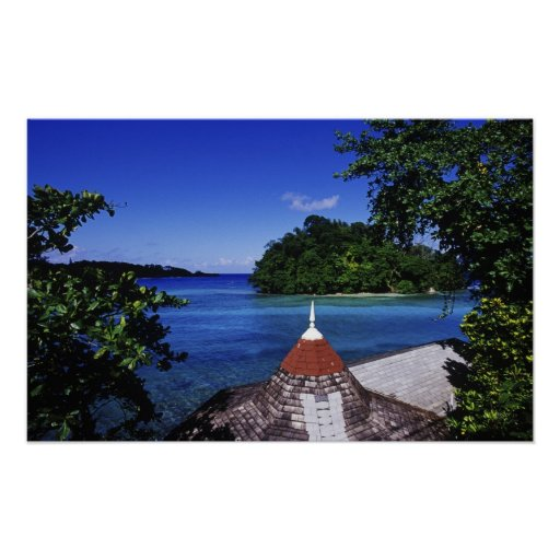 Laguna azul, puerto Antonio, Jamaica Posters