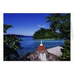 Laguna azul, puerto Antonio, Jamaica Tarjetón