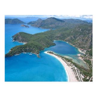Laguna azul postal