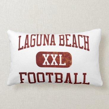 Beach Themed Laguna Beach Breakers Football Lumbar Pillow