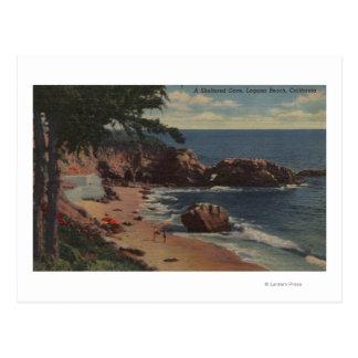 Laguna Beach, CA - ensenada abrigada en costa Tarjeta Postal