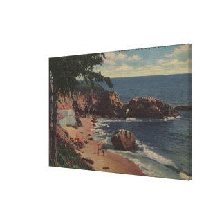 Laguna Beach CA - Sheltered Cove on Coast Stretched Canvas Print