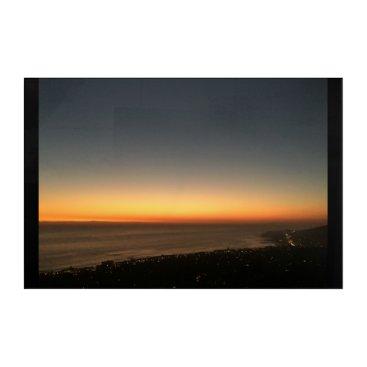 Beach Themed Laguna Beach, CA Sunset Panel Acrylic Print