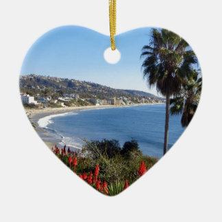 laguna beach california ceramic ornament