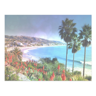 Laguna Beach California, efectividad suave Postal