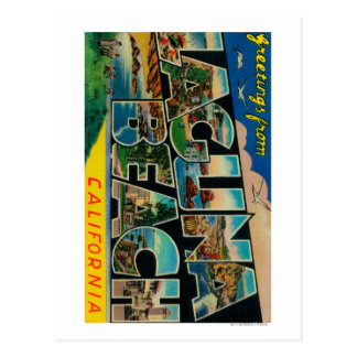 Laguna Beach, California - escenas grandes de la Tarjeta Postal