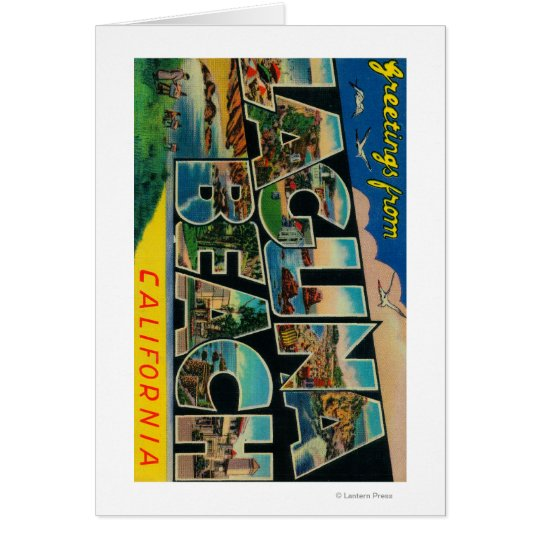 Laguna Beach, California - Large Letter Scenes Card