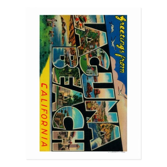 Laguna Beach, California - Large Letter Scenes Postcard