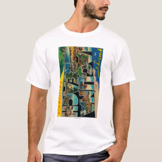 Laguna Beach, California - Large Letter Scenes T-Shirt