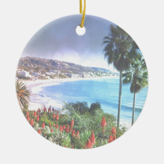 Laguna Beach California,soft eff. Ceramic Ornament