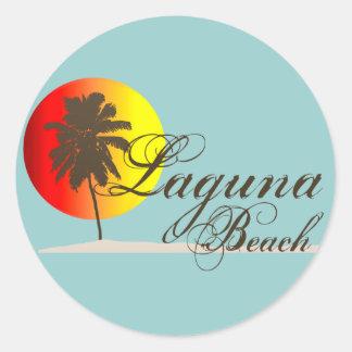 Laguna Beach California Round Stickers