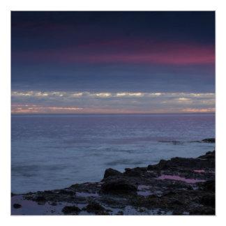 Laguna Beach California Sunset Photo Poster Print. Perfect Poster