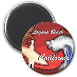 Laguna Beach California surfer waves art magnet