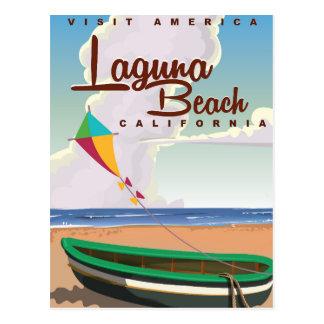 Laguna Beach California Vintage Travel Poster Postcard