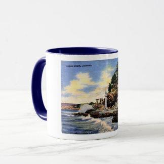 Laguna Beach, California, Vintage View Mug