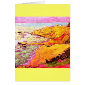 laguna beach colourful cove card