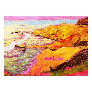 laguna beach cove art large business card