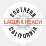 Laguna Beach de California meridional Pegatinas Redondas