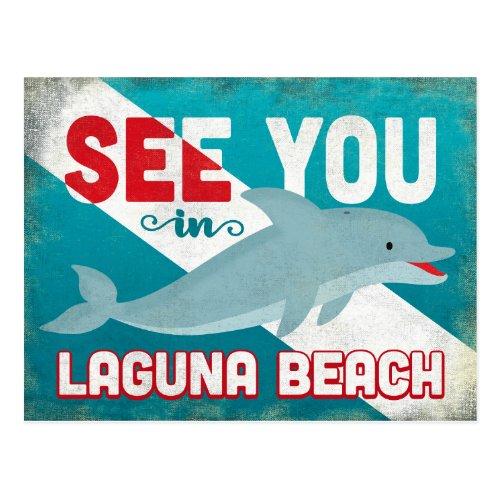 Laguna Beach Postcards - Retro Dolphin