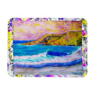 laguna beach drip painting rectangular photo magnet