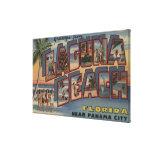 Laguna Beach, Florida - Large Letter Scenes Canvas Print
