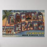 Laguna Beach, Florida - Large Letter Scenes Poster