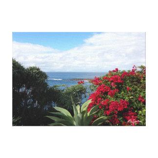 Laguna Beach flowers Stretched Canvas Print