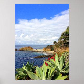 Laguna Beach Montage Ocean View Posters
