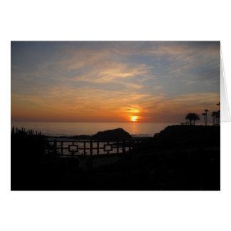 Laguna Beach Montage Sunset Greeting Card