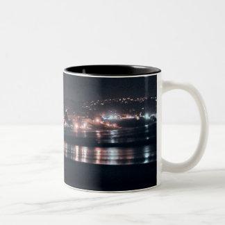 Laguna Beach Night Lights Two-Tone Coffee Mug