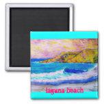 laguna beach slogan 2 inch square magnet