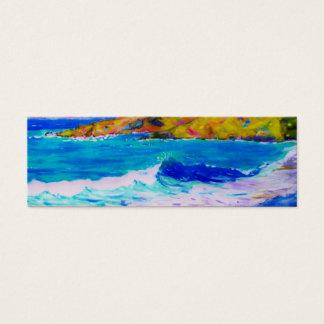 laguna beach splash art mini business card