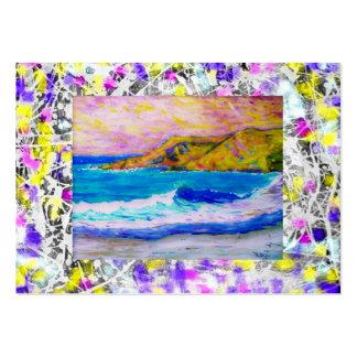laguna beach splash paint purple drip large business cards (Pack of 100)