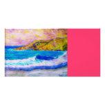laguna beach splash personalized photo card